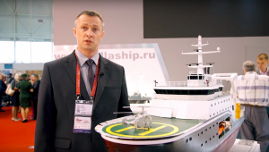 VIDEO: Pella Shipyard's Rescuer and Small Sea Tanker at Army-2018 Forum