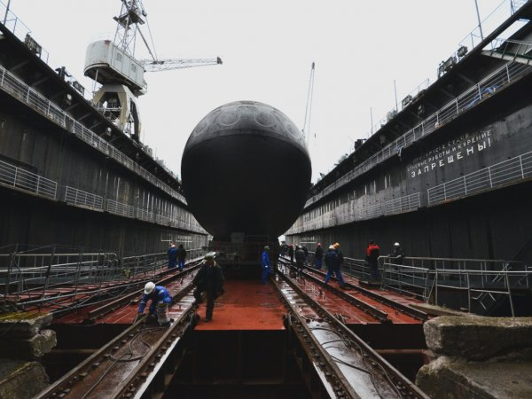 Launching of a diesel electric submarine
