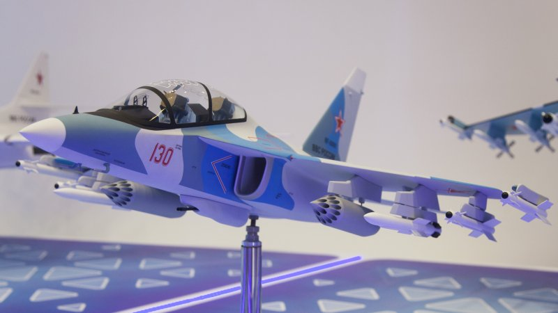 Model of Yak-130 training jet