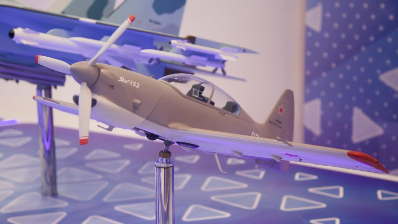 Model of Yak-152 primary training aircraft