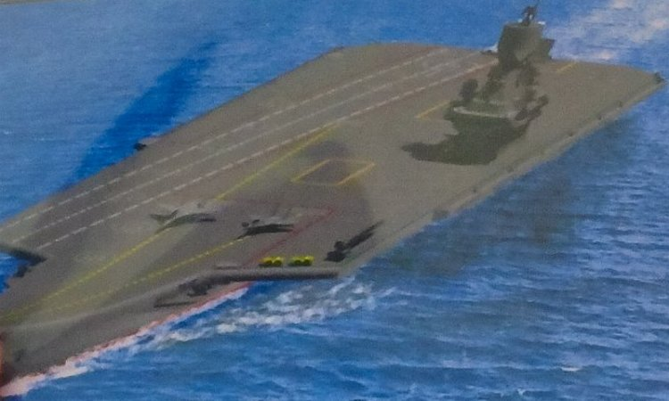 The concept of light multirole aircraft carrier from the Krylov State Research Center