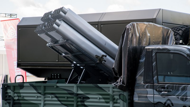 80-mm MLRS Sel designed and produced by Zaslon Science &Technology Center