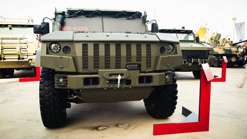 Simplified Typhoon-VDV K-4386 armored vehicle designed by JSC Remdiesel