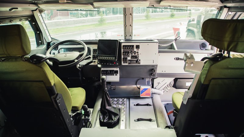 Interior of Typhoon K-53949 armored vehicle designed by JSC Remdiesel