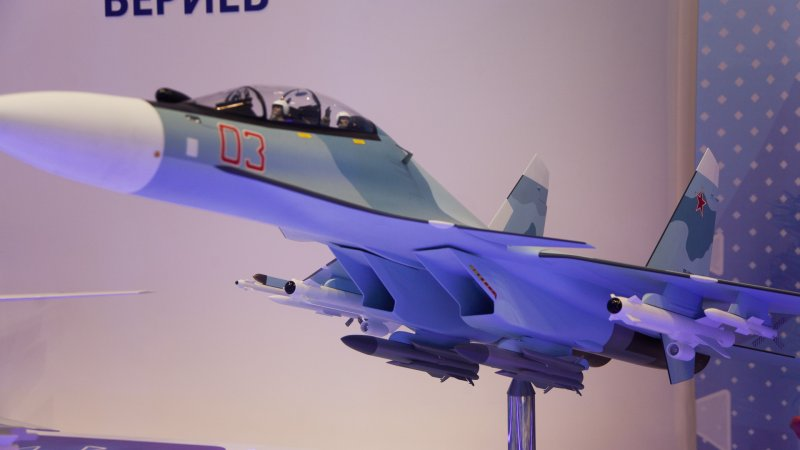 21) Model of Su-30SME fighter, export version
