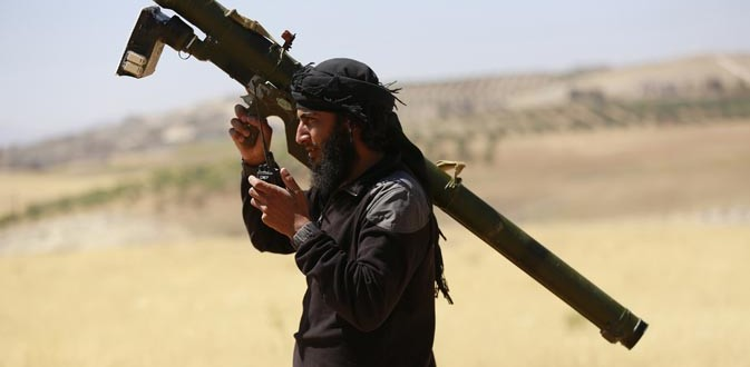 Islamist militant with MANPADS