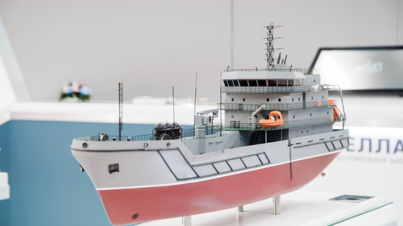 Project 03184 small-size sea tanker designed by Pella shipyard