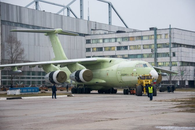 Pilot sample of modernized Il-78M-90A refueling aircraft
