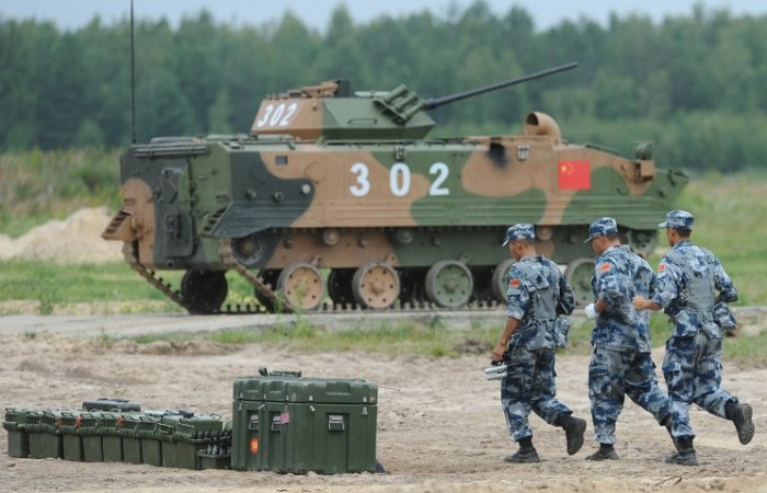 Chinese soldiers in Russia