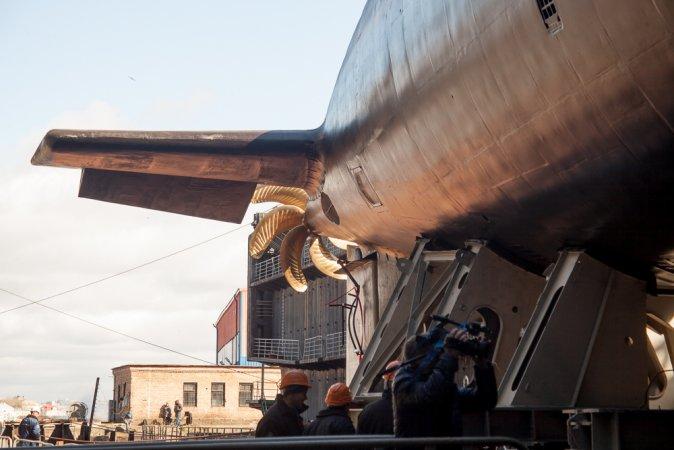 Launching of the diesel electric submarine Krasnodar
