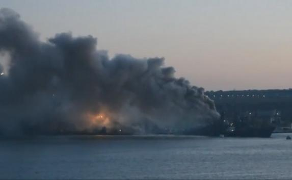Fire on the Kerch ASW ship