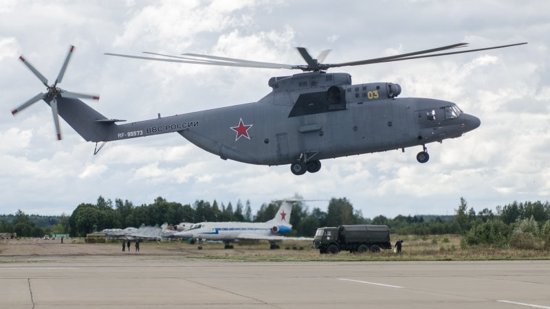 The world's largest serial heavy-lift multipurpose helicopter Mi-26