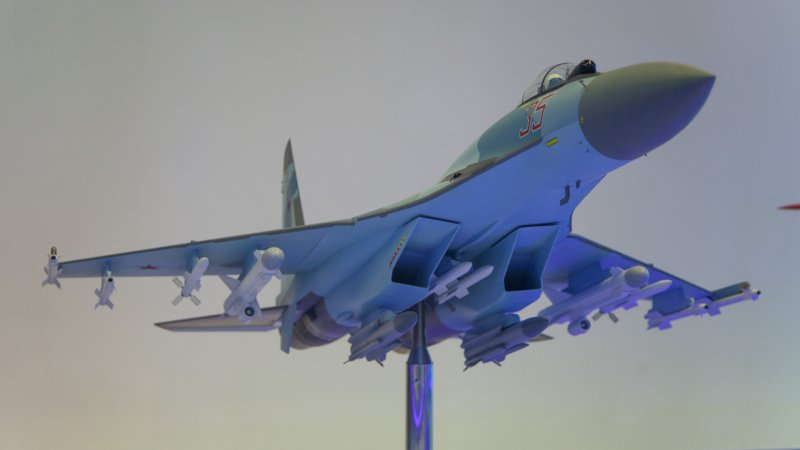 Model of Su-35 multirole fighter