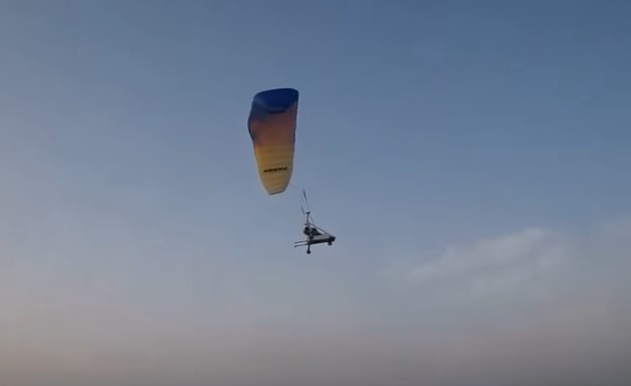 UAV paraglider trials