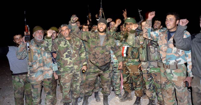 Syrian regular soldiers