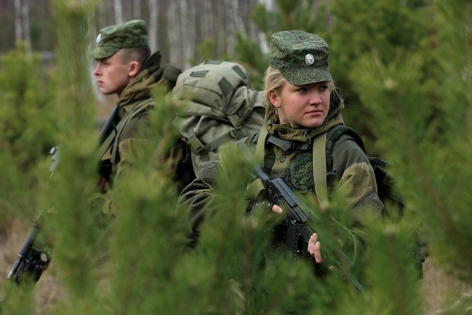Field exercises at the Russian Army