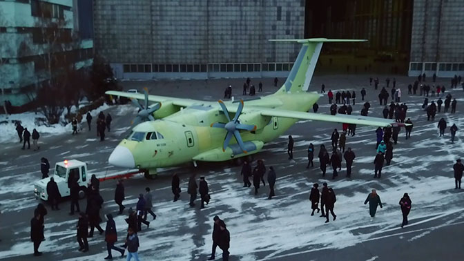 Il-112V light military transport aircraft