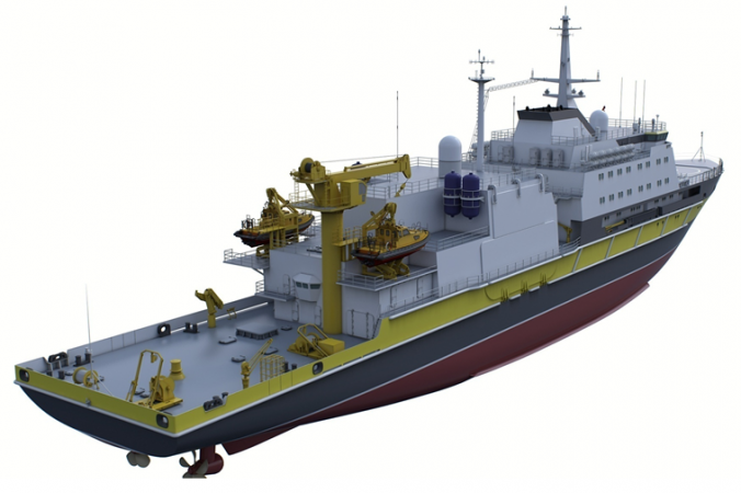 Outer view of the Project 21301 salvage ship