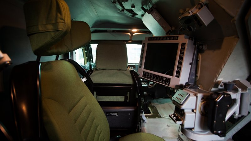 Inside view of Typhoon-VDV armored car