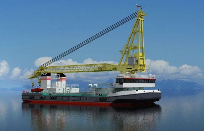Project 02690 lead floating crane, SPK-19150