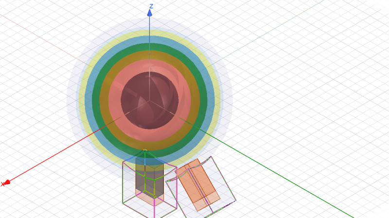 Simulation model of the Luneberg lens in ANSYS HFSS software