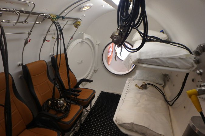 Interior of the RBK-2200 divers' decompression chamber