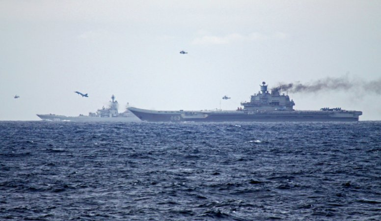 Airwing drills of Admiral Kuznetsov in the Atlantic