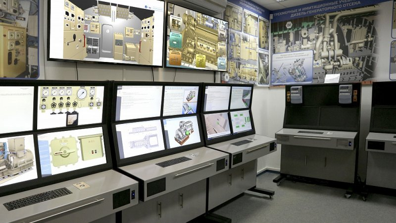 The common workstations system for training of Project 636.3 diesel subs crew