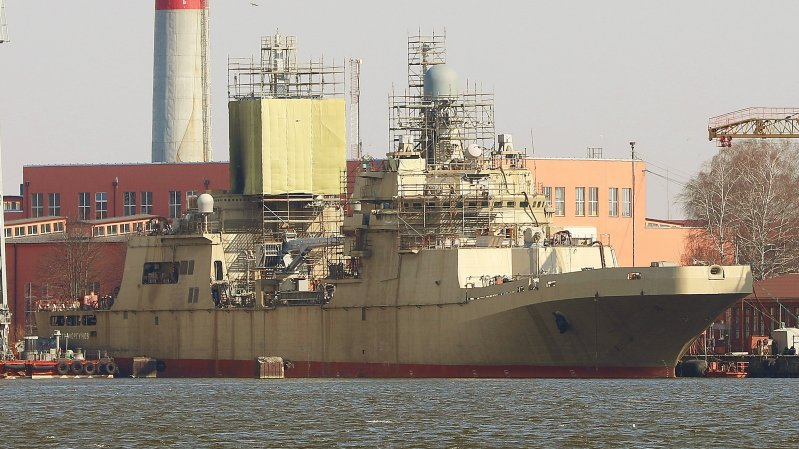 Project 11711 large landing ship Pyotr Morgunov in April 2019