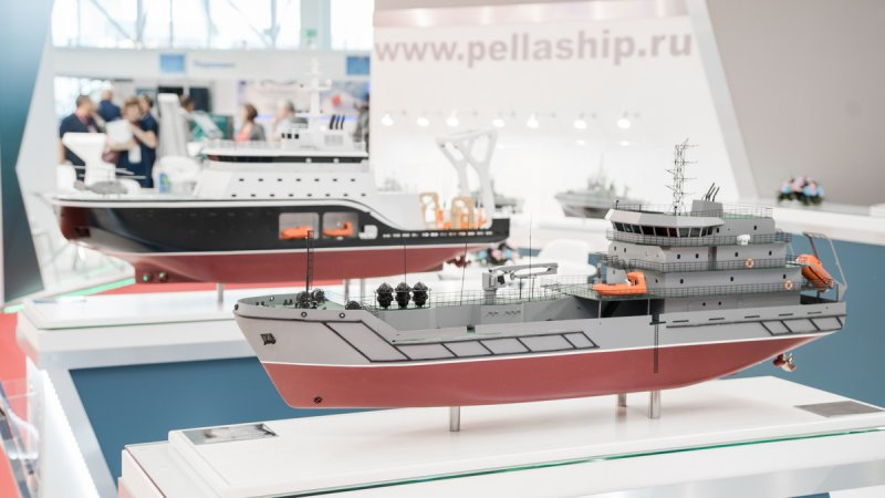 Booth of Pella shipyard at Army-2018 forum