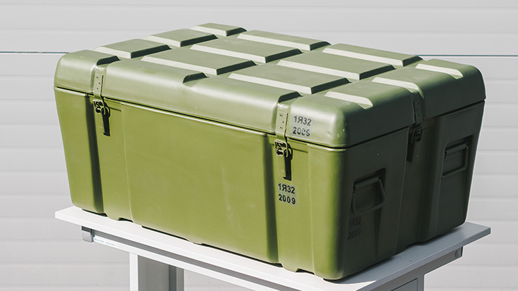 Fiberglass-based case for small arms