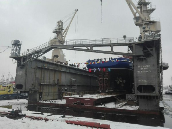 Launching of Vsevolod Bobrov auxiliary ship