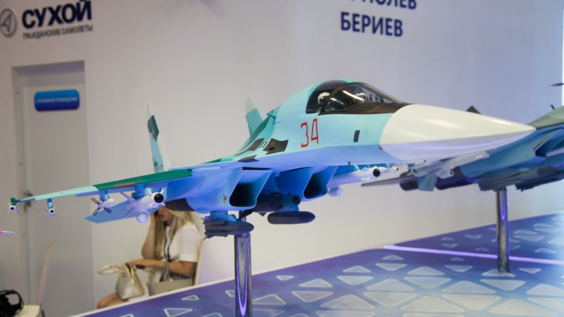 Model of Su-32 frontline bomber (export version of Su-34)