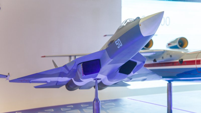 Model of 5G fighter PAK FA (T-50)