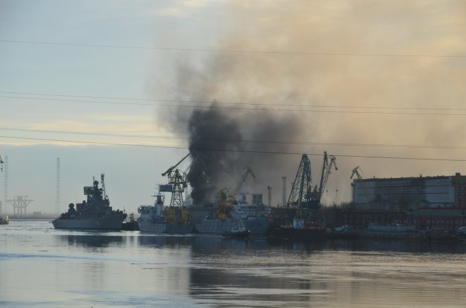 Fire on SSN Oryol on April 7, 2015