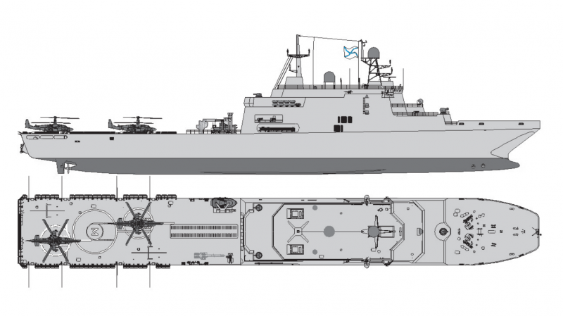 An image variant of the second series of Project 11711 landing ship