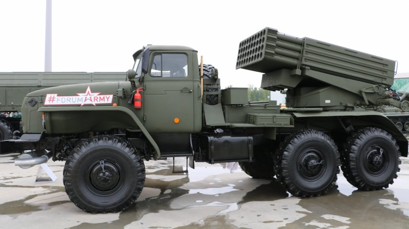 MLRS Tornado-G designed and produced by NPO Splav (division of Techmash Concern at Rostec State Corporation)